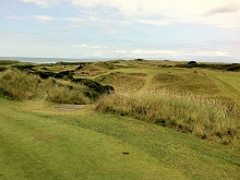 8th hole at troon